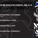 Warner MS Athletic Events January 6th-11th