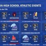 Xenia High School Athletic Events January 6th-11th