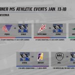 Warner MS Athletic Events Jan. 13-18