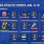 Xenia HS Athletic Events Jan. 13-18