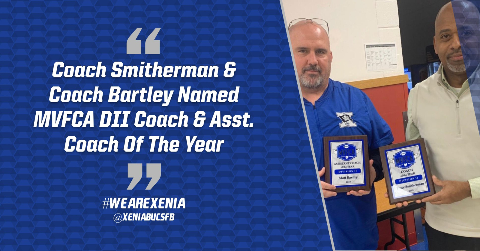 Coach Smitherman And Coach Bartley Named Coaches Of The Year By MVFCA