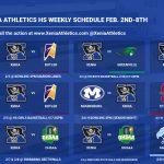 Xenia Athletics Weekly Events Feb. 3-8