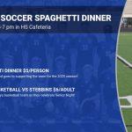 Boys Soccer Spaghetti Dinner Friday Night 5-7pm Before Boys Basketball Game
