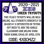***SCHEDULE CHANGE*** 2020 Xenia High School Cheer Tryouts To Be Virtual: Click For Details