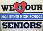 Xenia Trophy Shop Offering 2020 Senior T-shirts. Click For Link.