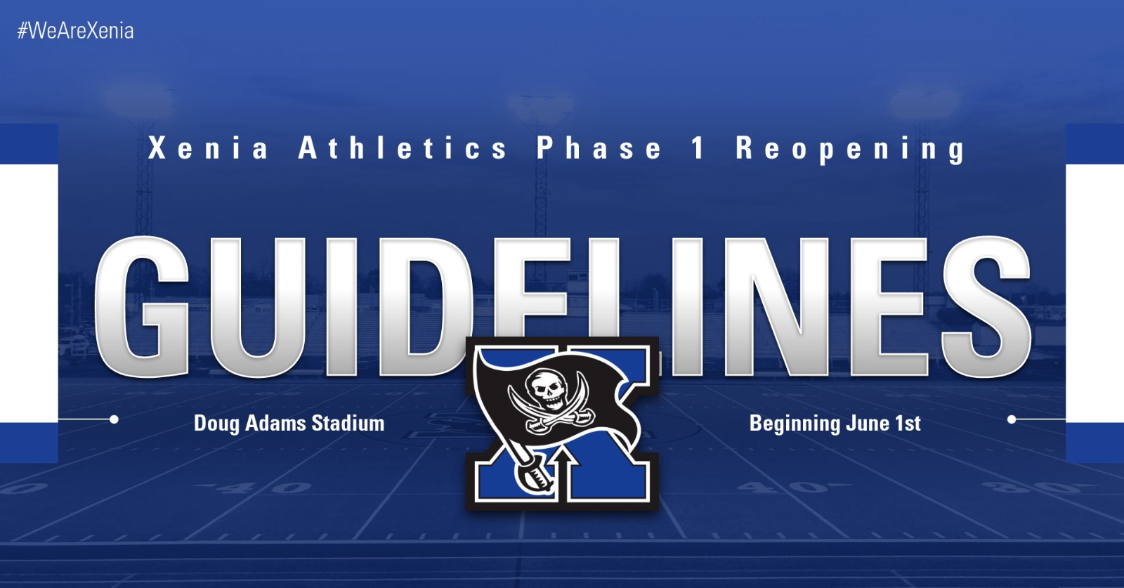 Xenia Athletics Reopening Guidelines. Click For Details.