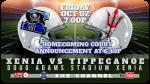 Xenia vs Tippecanoe Football To Be Streamed Live Friday Night