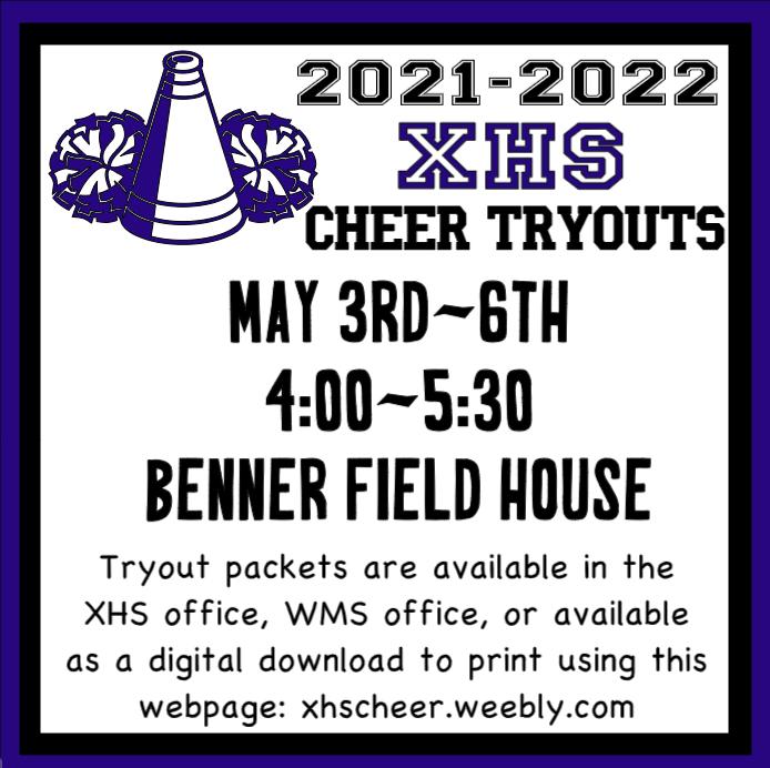 Xenia High School Cheerleading Tryout Information