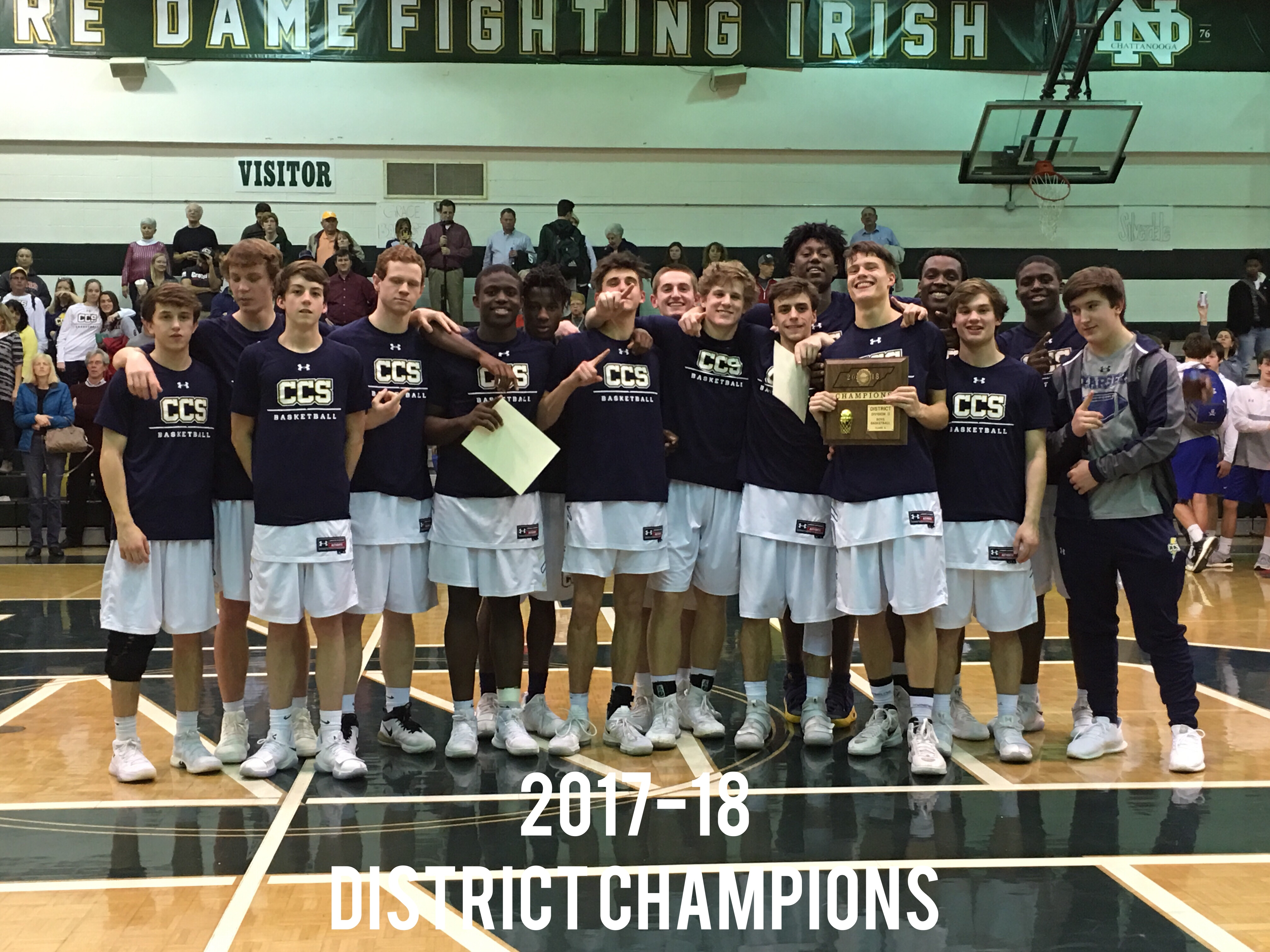 CCS Boys Basketball District Champions