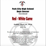 Miners Boys Soccer Red vs White Game Friday, April 22