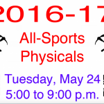 PCHS All-Sports Physicals for 2016-17 School Year
