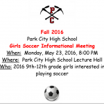 Girls Soccer Information Meeting Scheduled Monday, May 23rd
