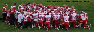 Football Varsity at Cedar 10-28-2016