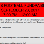 Miners Football to Host Fundraiser in Deer Valley