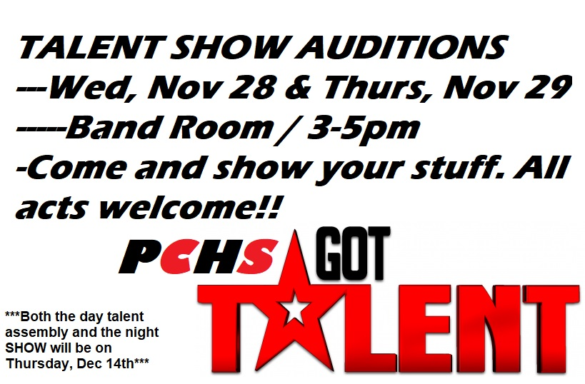 PCHS Talent Show Auditions