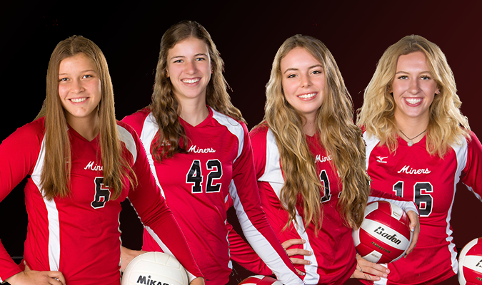 Volley Miners Put Four on All-State Team Including 4A MVP
