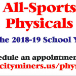 2018-19 All Sports Physicals Tuesday, May 22