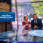 Senior Cheerleader, Alta Tabar, Receives the America First Scholar Athlete Scholarship.