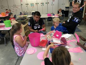 Football Players visit Primary, Intermediate