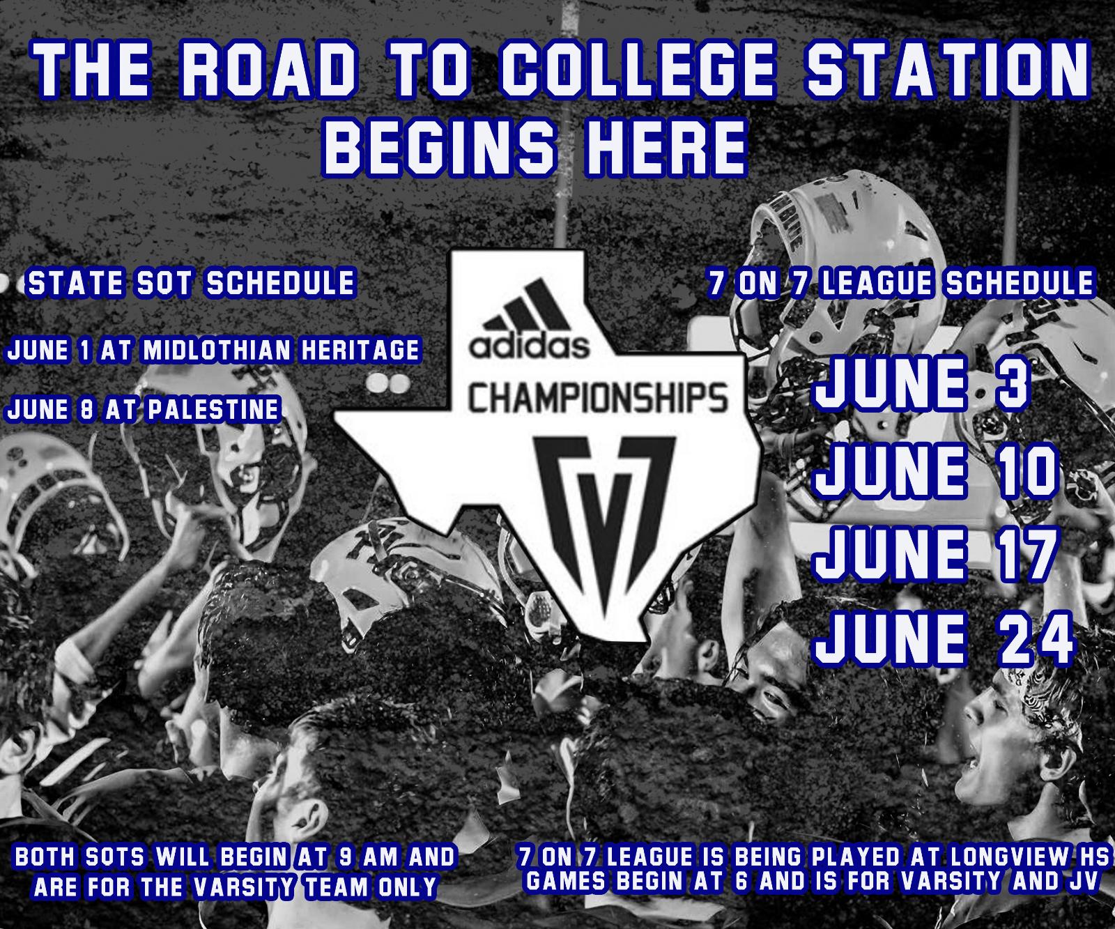 HS Summer 7-on-7 Schedule