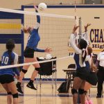 Girls 8th Grade A Volleyball beats Chapel Hill