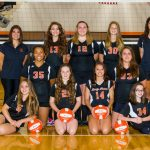 Mineral Ridge Girls 8th Grade Volleyball falls to Wellsville High School 1-2