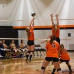 Mineral Ridge High School Girls Junior Varsity Volleyball beat Lowellville High School 2-0