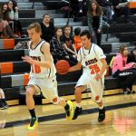 Mineral Ridge High School Boys Freshman Basketball falls to South Range High School 16-20