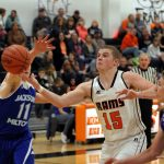 Mineral Ridge High School Boys Varsity Basketball falls to Lisbon High School 59-70:  Late run by the Rams not enough