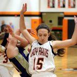 Mineral Ridge High School Girls Varsity Basketball falls to Mcdonald High School 27-47