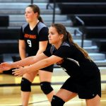 Mineral Ridge Girls 7th Grade Volleyball falls to Western Reserve High School 2-0