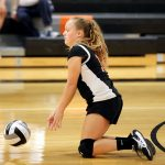 Mineral Ridge Girls 8th Grade Volleyball falls to Lowellville Local High School 2-0