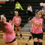 Mineral Ridge Girls 7th Grade Volleyball falls to Springfield Local High School 2-0