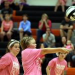 Mineral Ridge Girls 7th Grade Volleyball beat east palestine High school 2-0