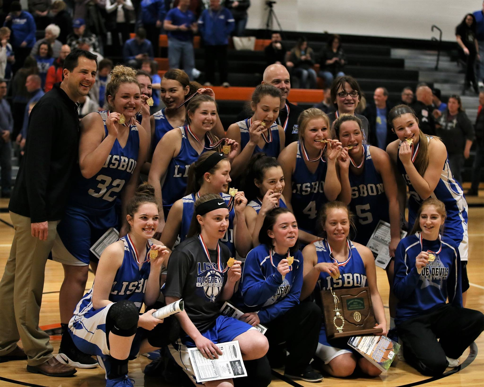 Lisbon Wins Districts at Mineral Ridge High School