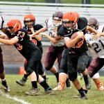 Boys Middle School Football beats Waterloo 38 – 8