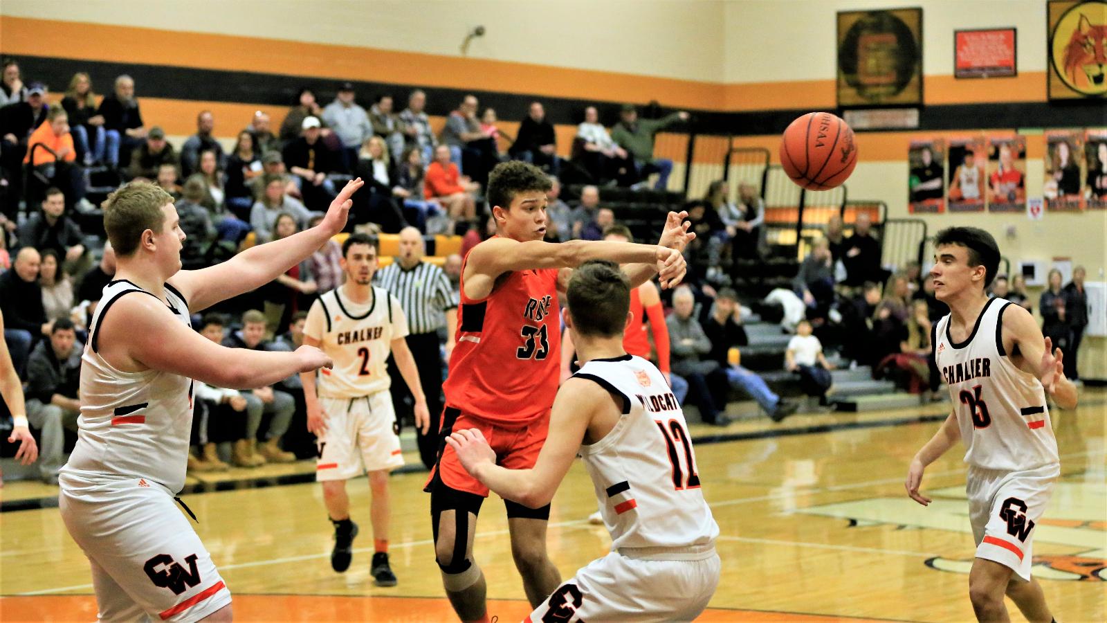 Boys varsity basketball falls to lowellville 78-55