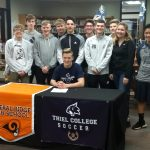 Soccer's Garret Smith Signs with Thiel College