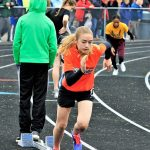 Girls Middle School Track finishes 10th place at Trumbull County Meet