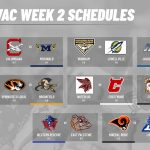 Week 2 Schedules for the MVAC
