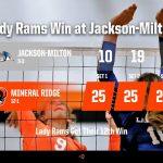 Girls Varsity Volleyball beats Jackson-Milton Local 3 – 0