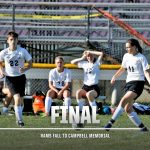 Boys Varsity Soccer falls to Campbell Memorial 3 – 1