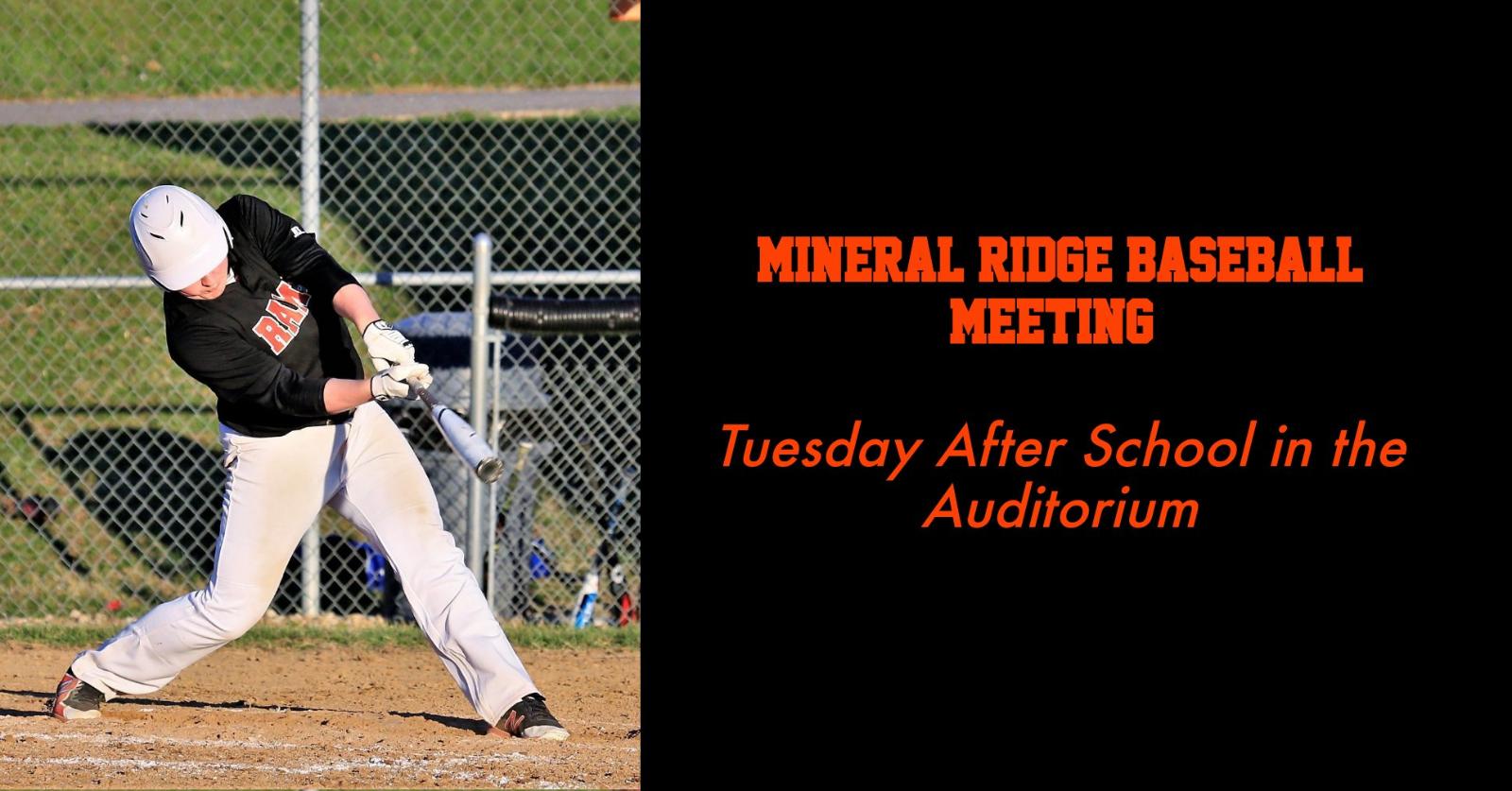 Baseball Meeting Set for Tuesday