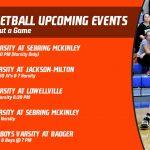 Mineral Ridge Athletics Upcoming Events