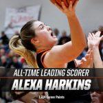 Alexa Harkins Breaks the School Scoring Record