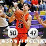 Boys Junior Varsity Basketball beats Waterloo 50 – 47