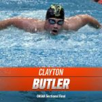 Clayton Butler at OHSAA Sectionals at Akron Univeristy
