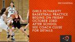 Girls JV & Varsity Basketball Practice Starts Friday
