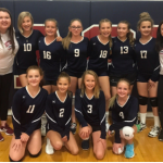 Girls Middle School JV1 Volleyball beats Northwest Christian 2 – 1