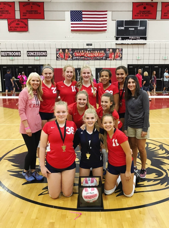 MS Varsity Volleyball Wins Spikefest Tournament; Laylah Daniel wins Tournament MVP